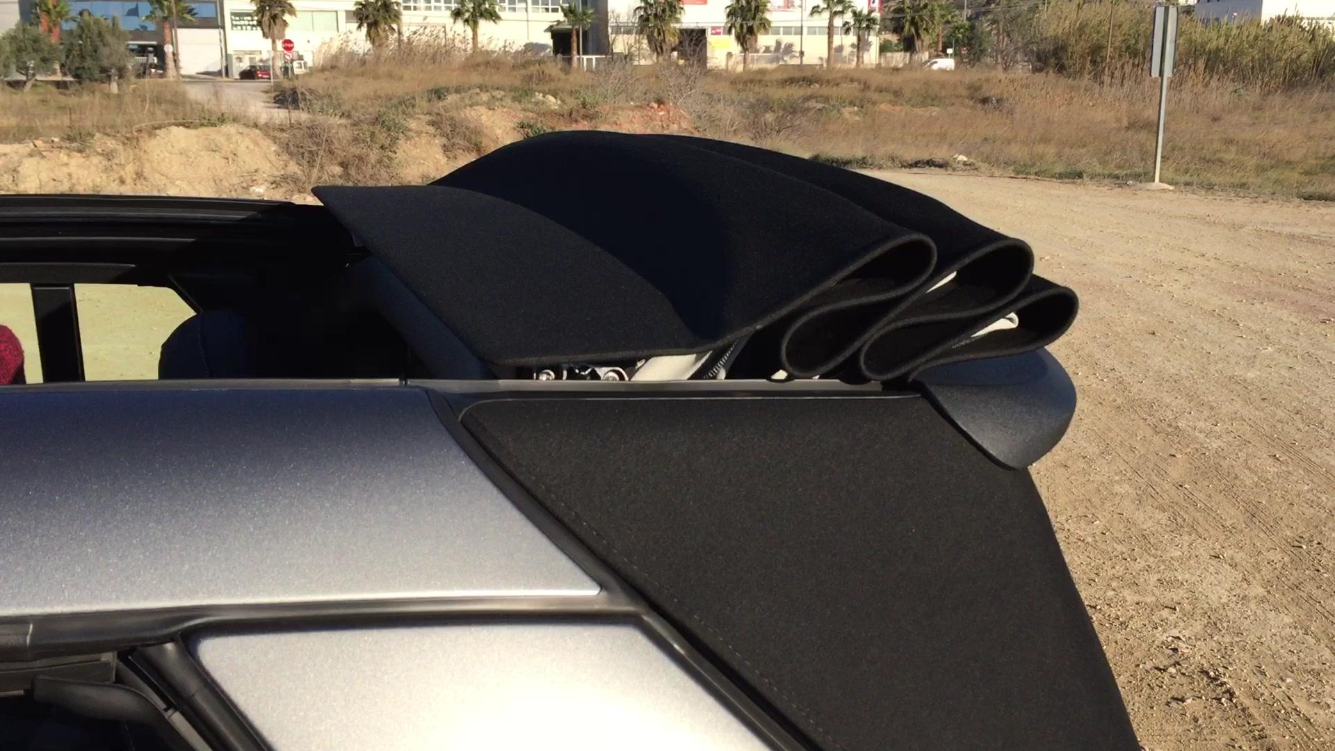 smart fortwo 450 cabrio tető manuális lenyitása kézzel útmutató leírás