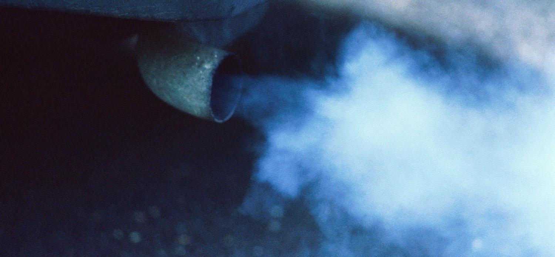 Dízel hidegen kék füst